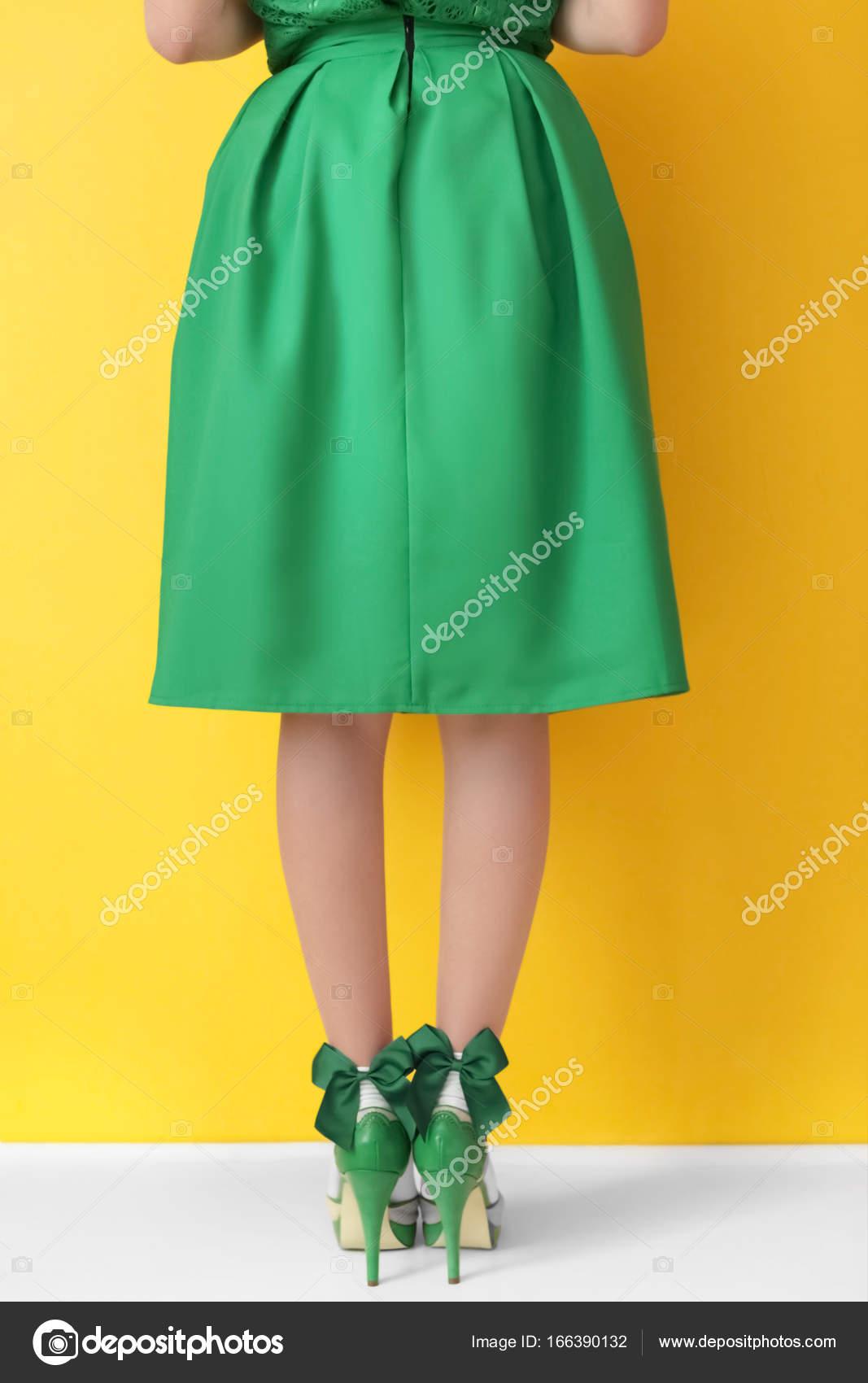 Donna Scxhbtdoqr In Stock Alto Giovane Tacco Foto — E Scarpe Calze Verde 0nwO8XPk