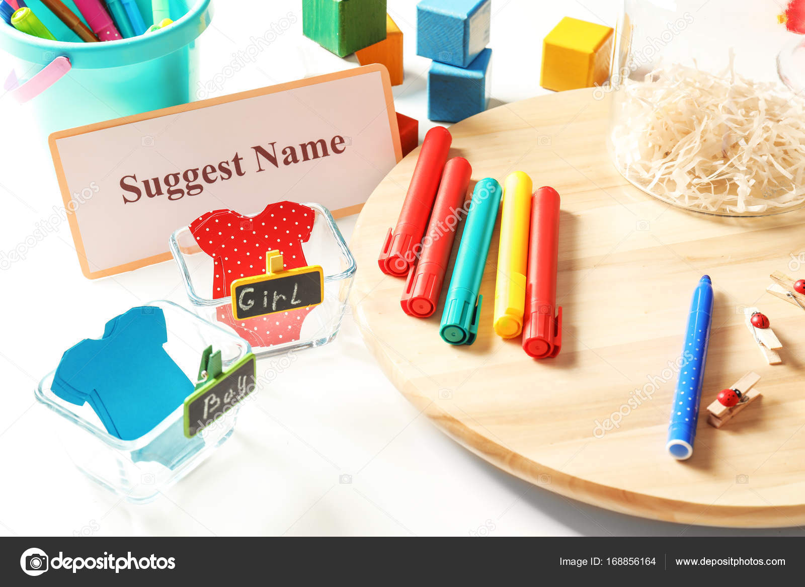 Game for suggestion baby name — Stock Photo © belchonock