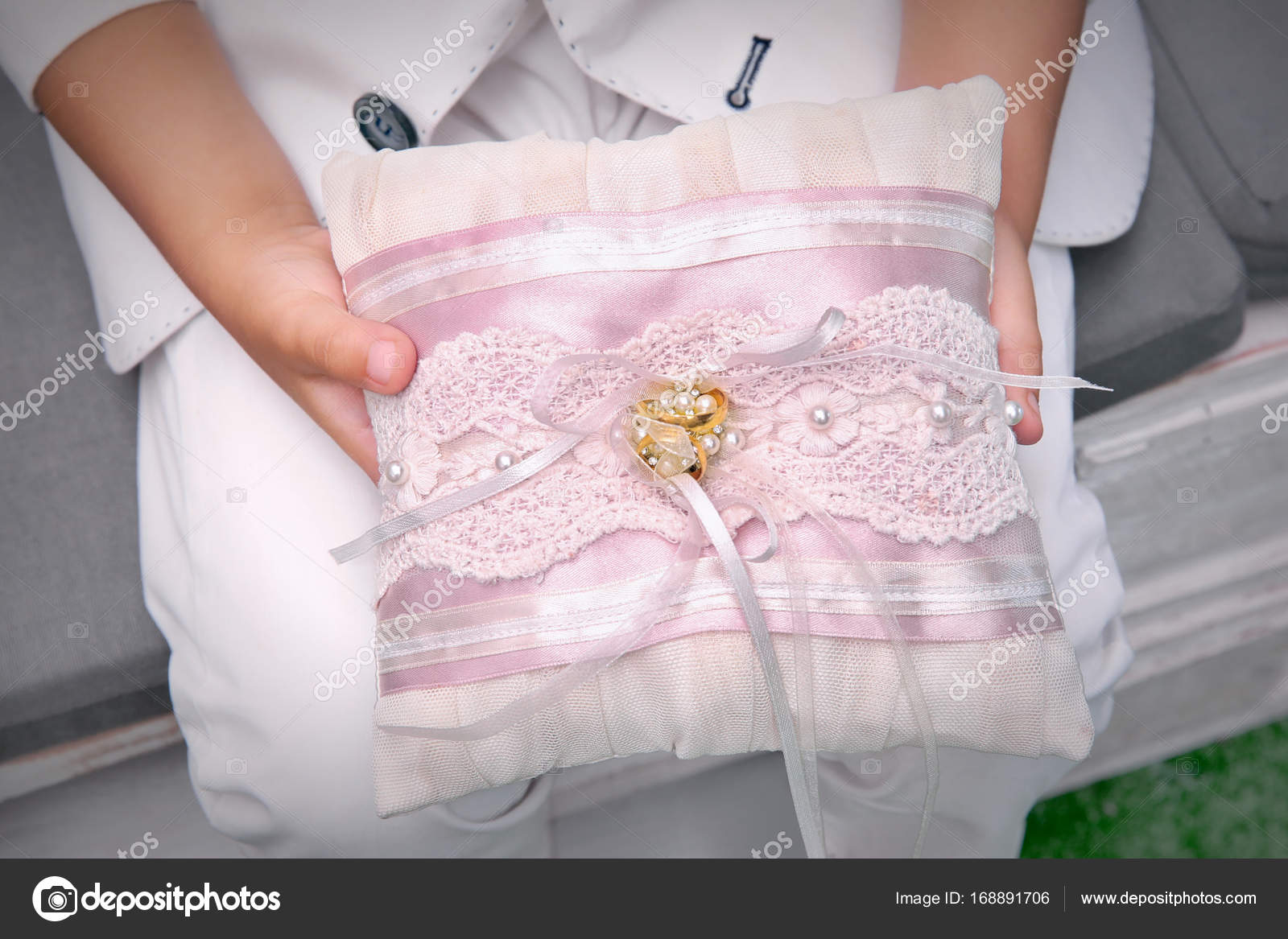 Little Boy Holding Pillow With Wedding Rings Stock Photo: Wedding Band Little Boy At Reisefeber.org