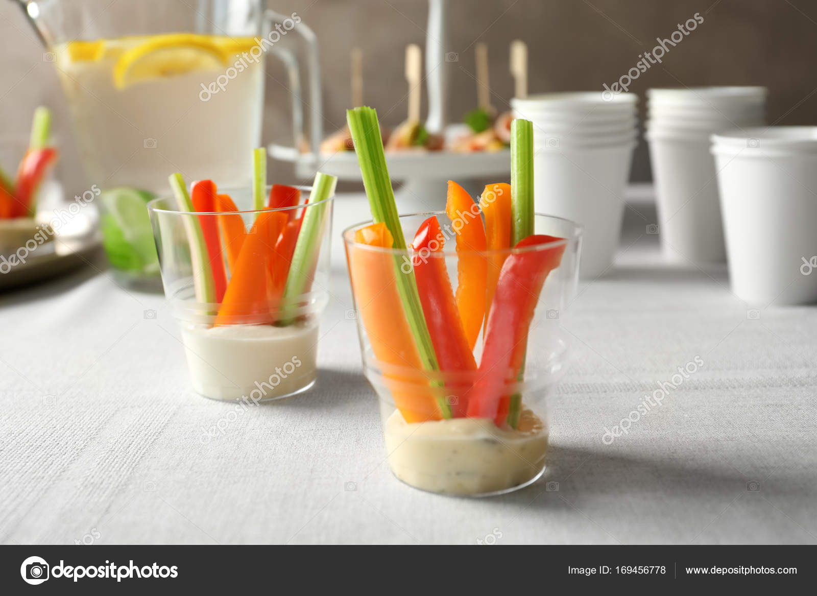 Appetizers For Baby Shower Stock Photo Belchonock 169456778