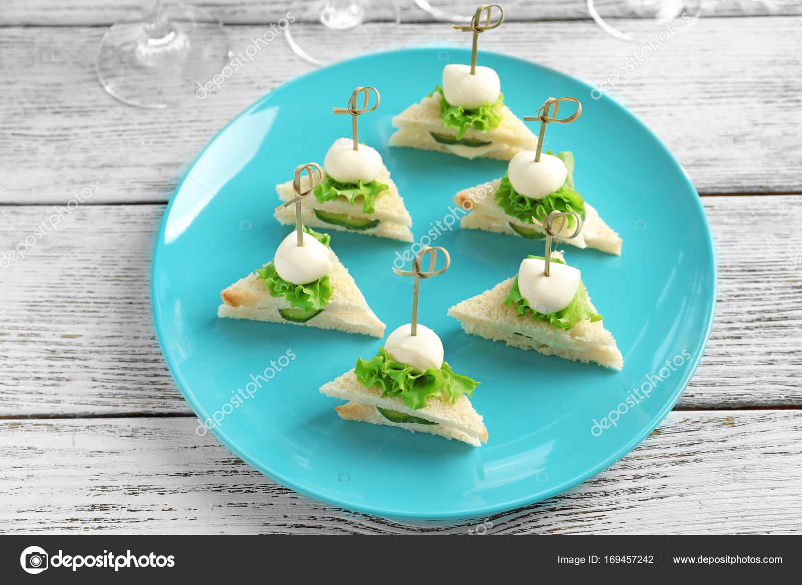 Mini Sandwiches For Baby Shower Stock Photo Belchonock 169457242