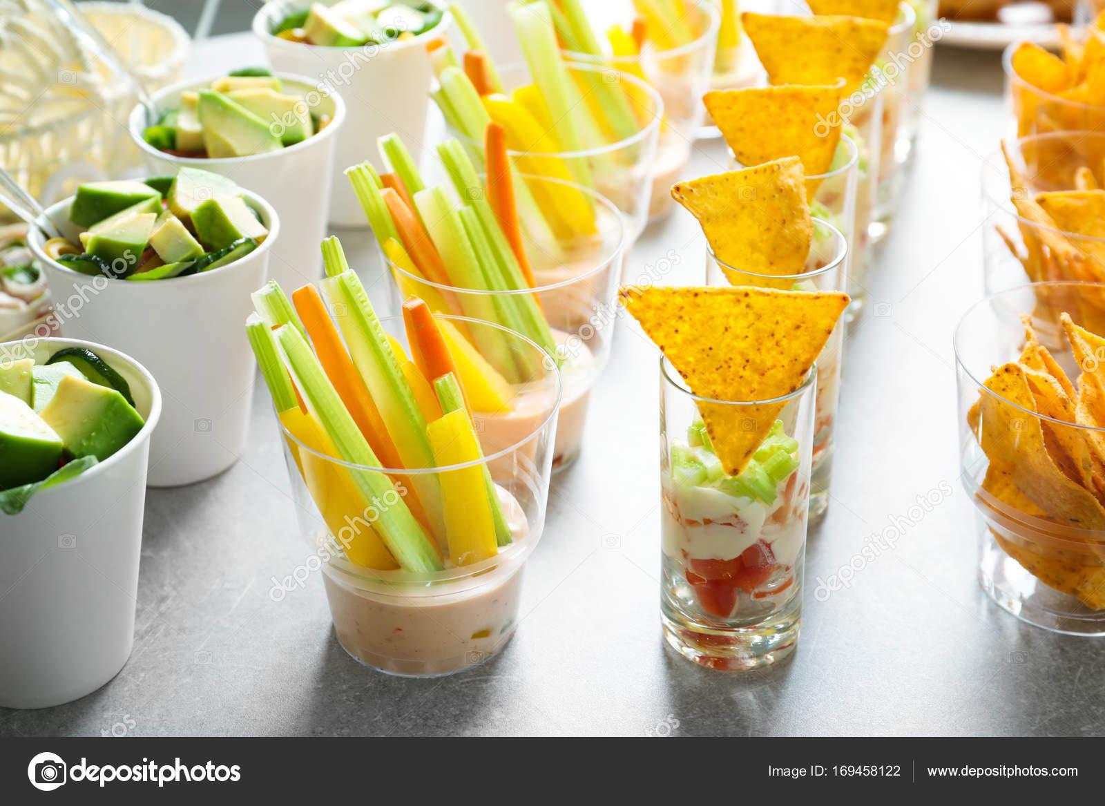 Smaczne Jedzenie Na Baby Shower Strony Zdjęcie Stockowe