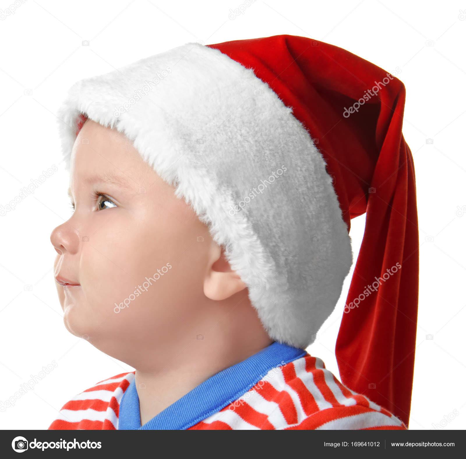 8890061488b Cute little baby in Santa hat