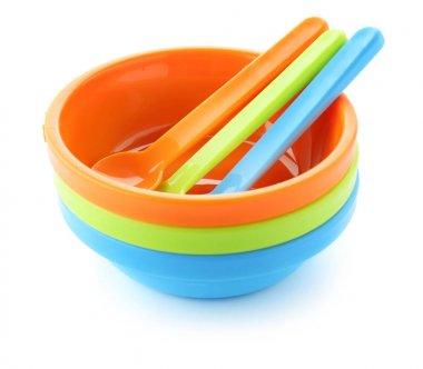 Bright baby tableware
