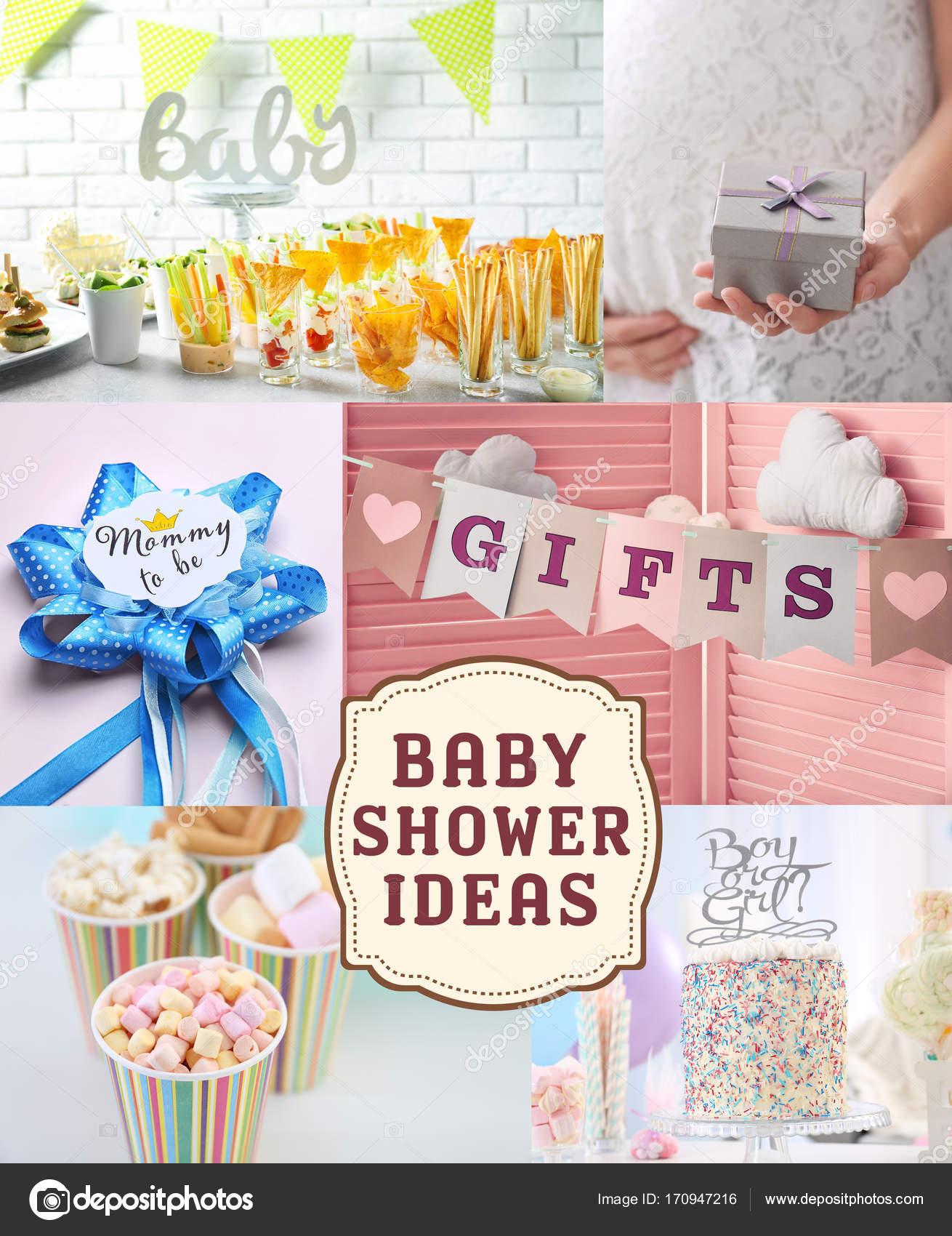 Attraktiv Collage Ideen Das Beste Von Mit Für Baby Shower Party — Foto
