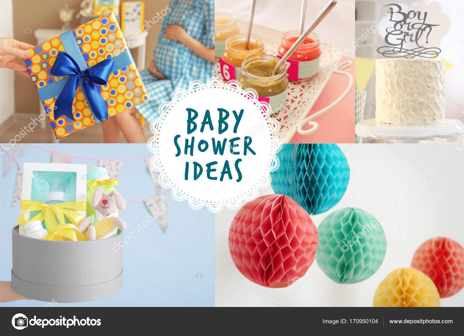 Genial Collage Ideen Galerie Von Mit Für Baby Shower Party — Foto