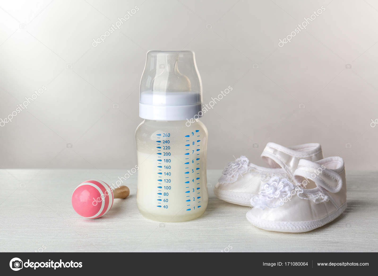 Fabulous Composition With Feeding Bottle Of Baby Milk Formula On Home Interior And Landscaping Spoatsignezvosmurscom