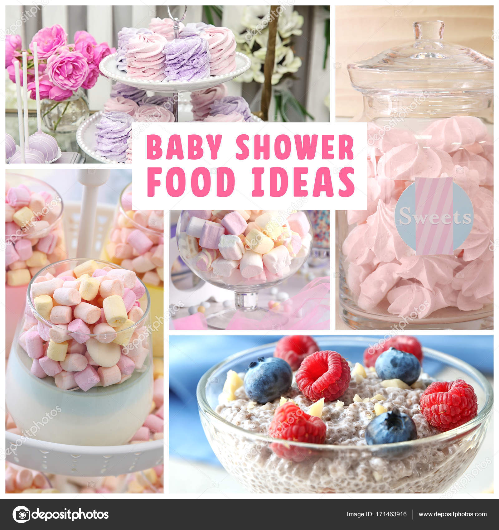 Pictures Girl Baby Shower Food Ideas Collage With Baby