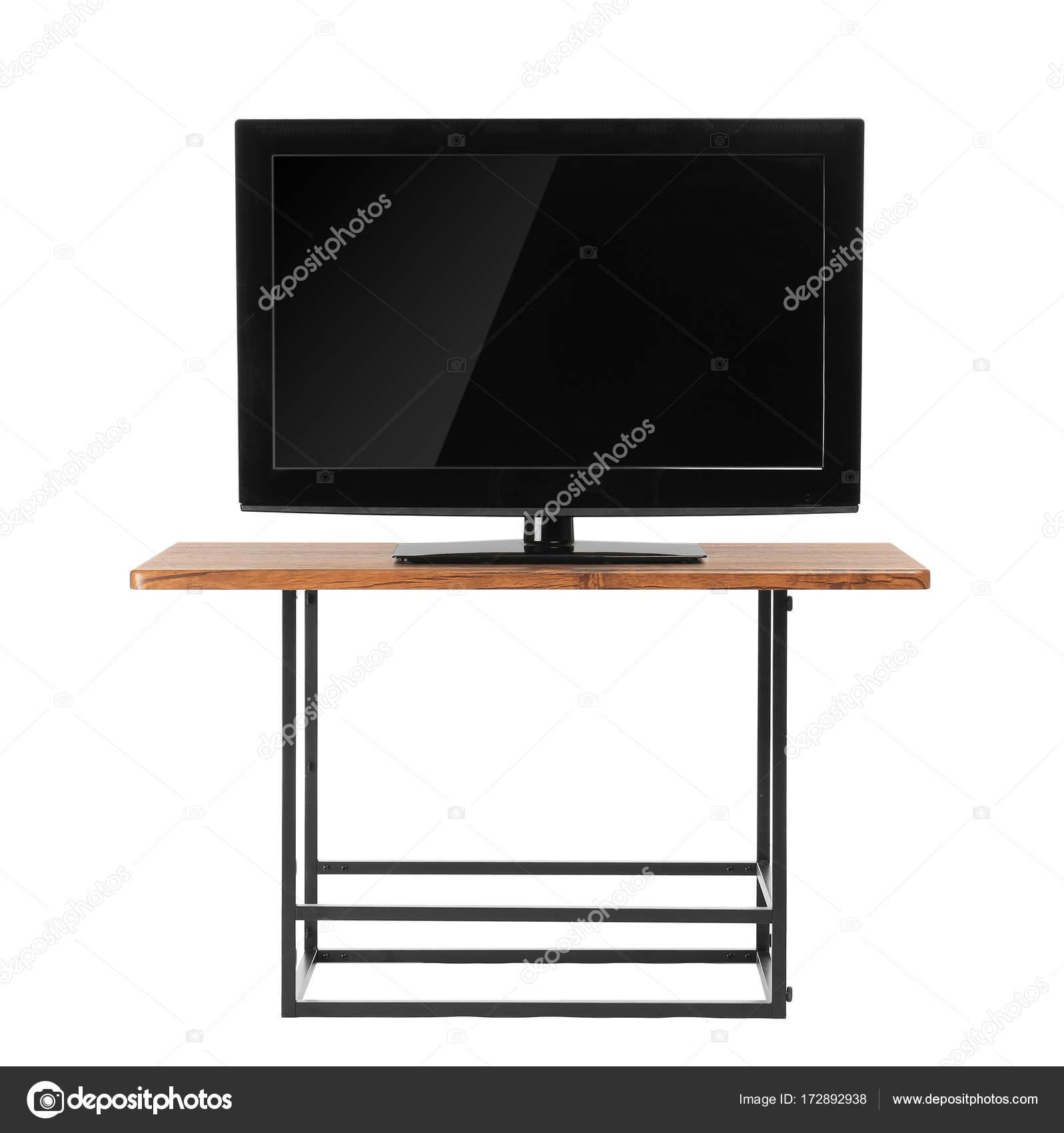 Modern Tv Set On Stand Stock Photo