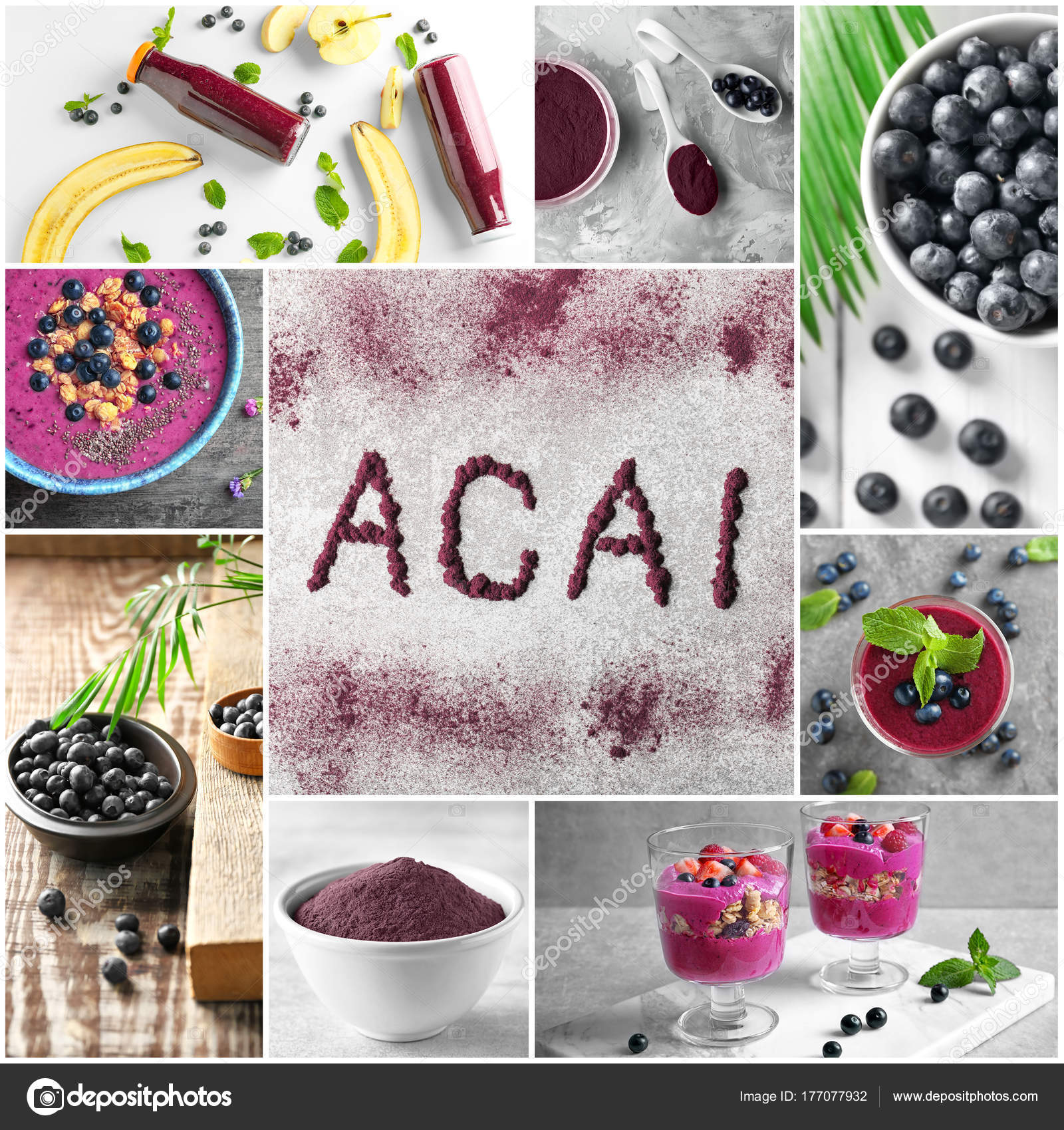 Bemerkenswert Collage Ideen Beste Wahl Aus Verschiedenen Für Rezepte Mit Acai Beeren