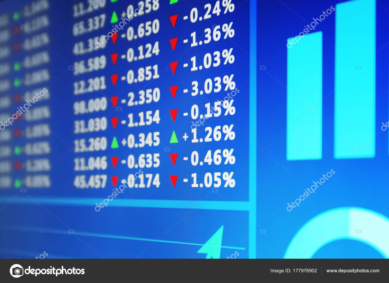 Con Closeup Datos Monitor Foto Stock Valores © Belchonock — De Bolsa dhQsCxBotr