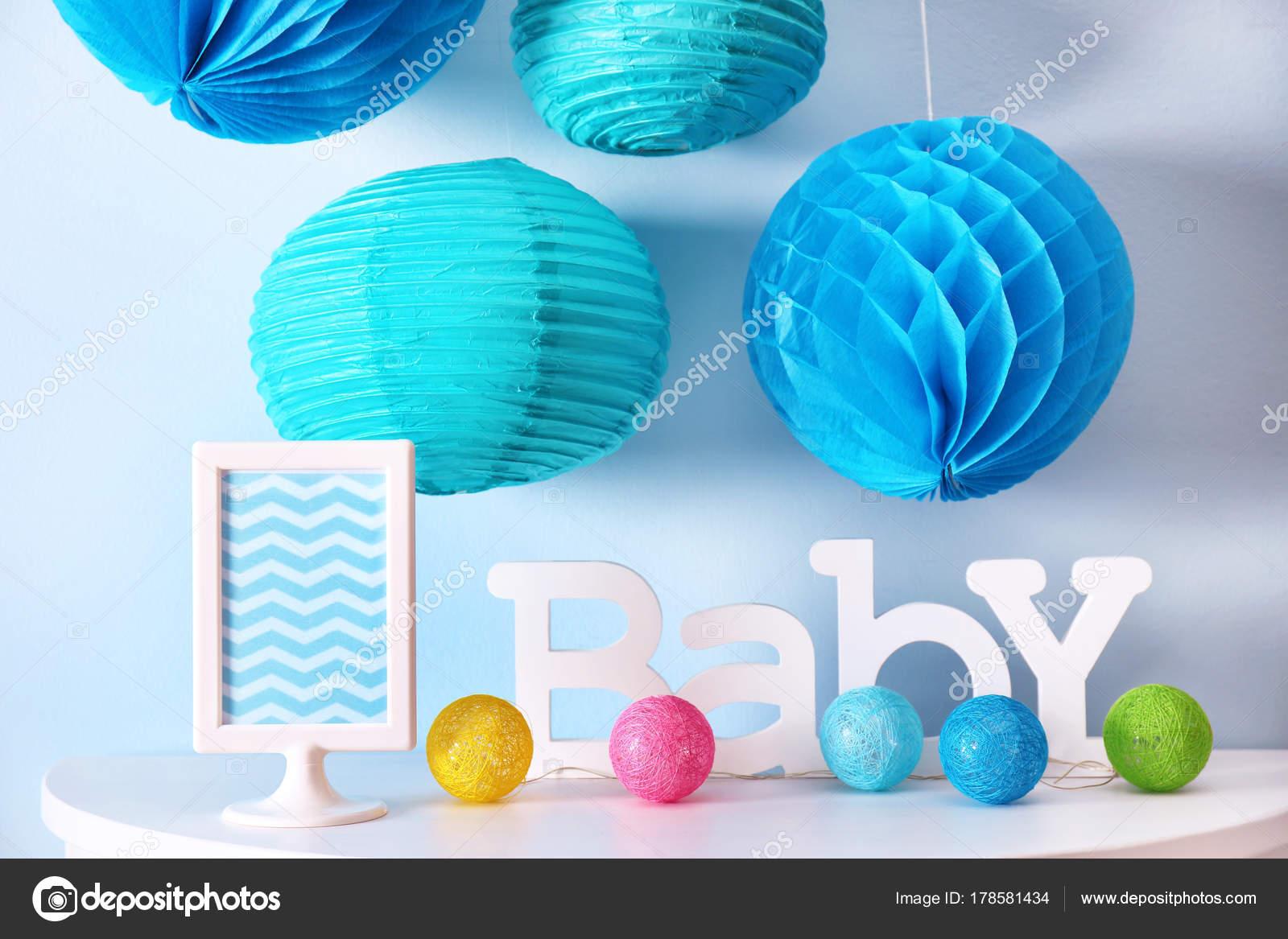 Decoraciones Para Baby Shower En El Interior Del Partido U2014 Foto De  Belchonock