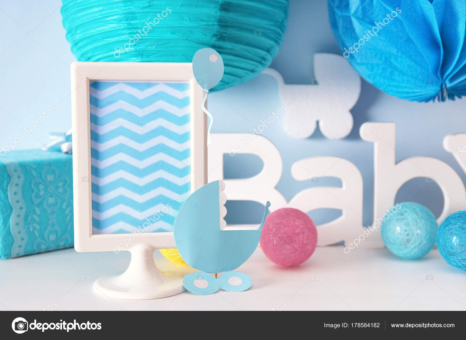 Decoraciones Para Baby Shower En El Interior Del Partido Fotos De - Decoracion-para-baby-shower