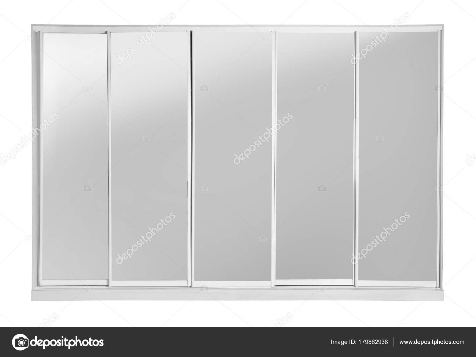 Moderne Garderobe Mit Spiegel Auf Weissem Hintergrund Stockfoto