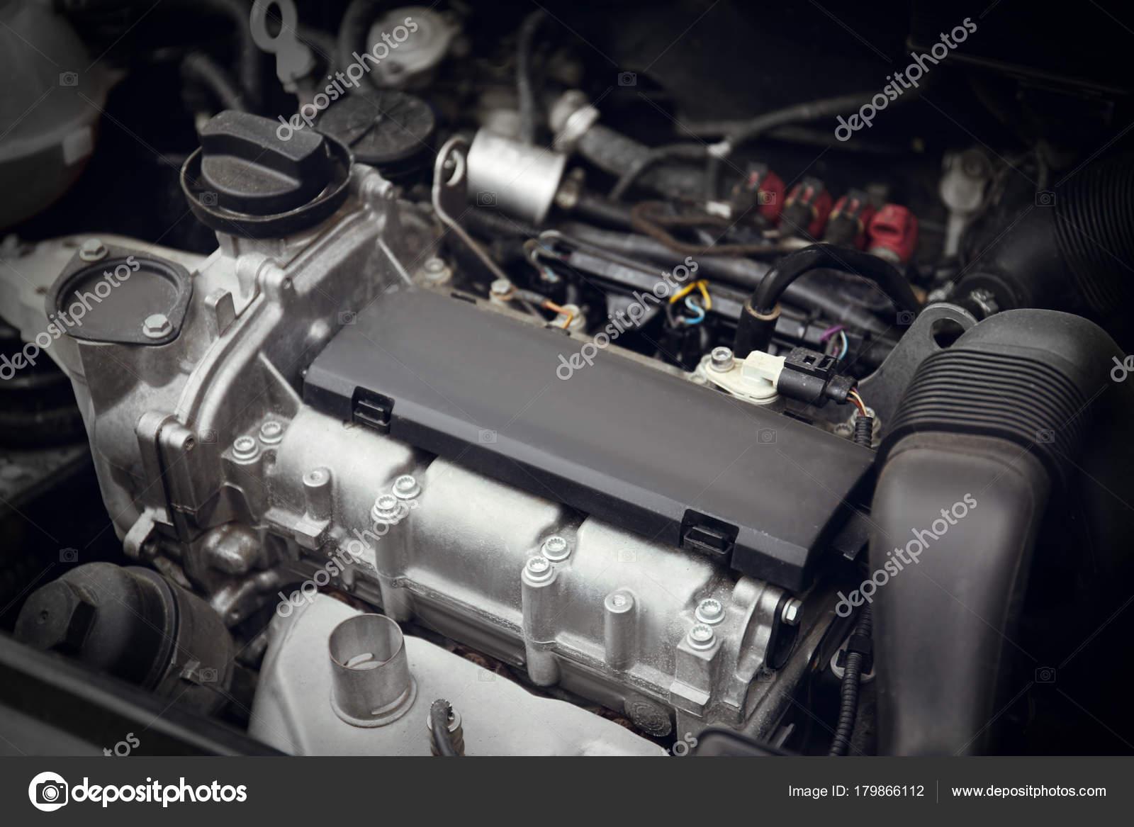 Detailansicht Der Automotor Auto Mechaniker Service — Stockfoto ...