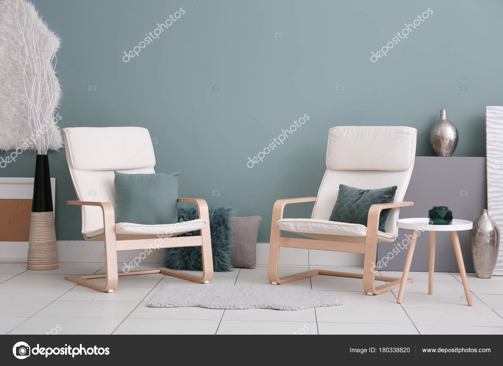 depositphotos stock photo fortable armchairs modern living room