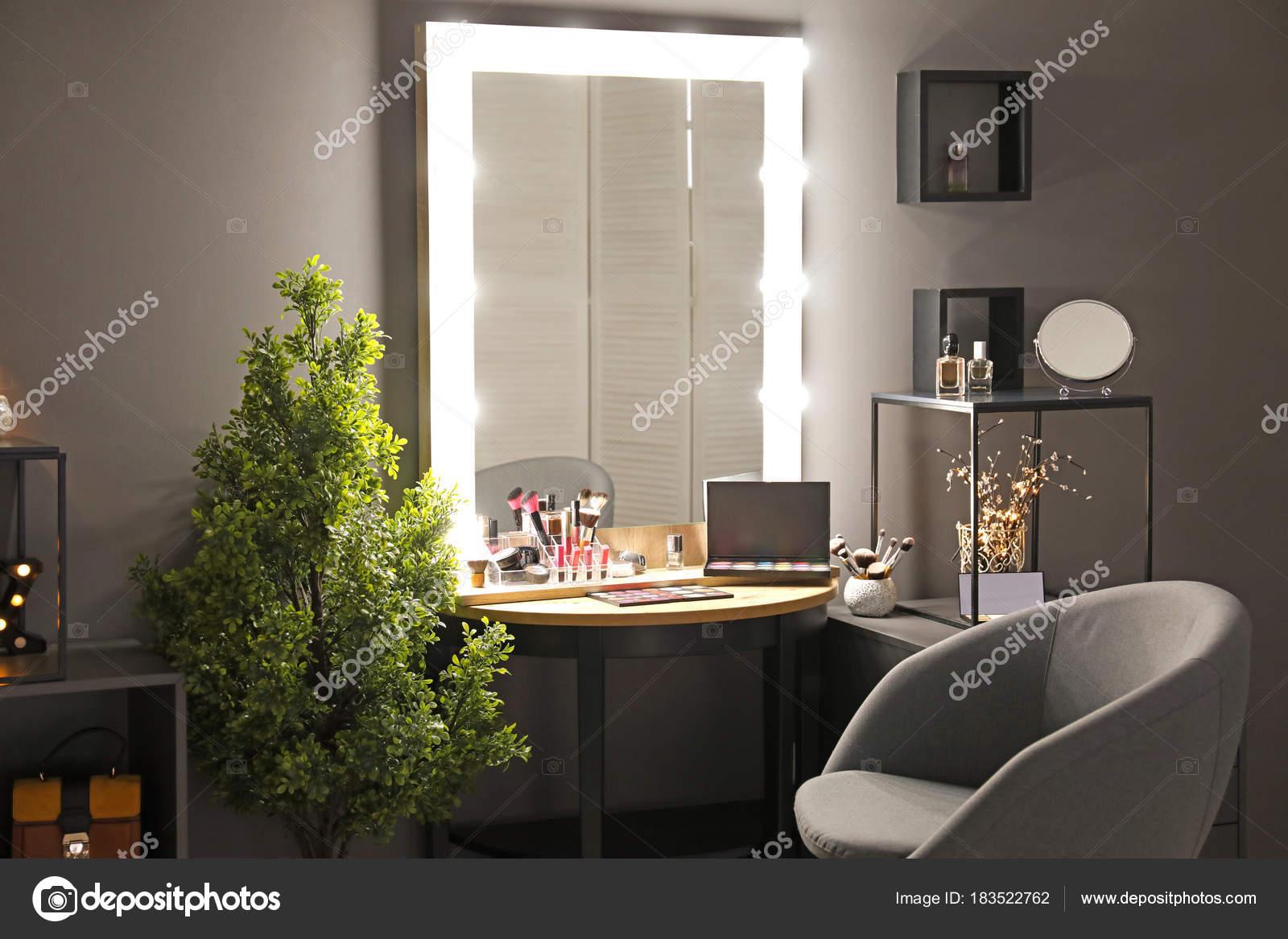 Interior of modern makeup room 29