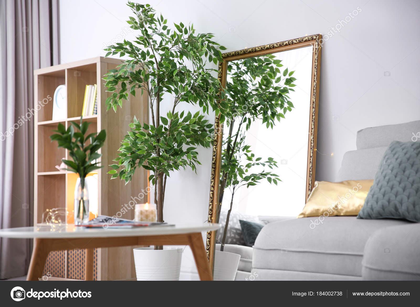 Elegante Kamer Interieur Met Grote Spiegel Stockfoto Rechtenvrije Foto Door C Belchonock 184002738