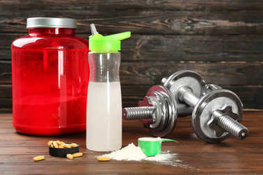 Composition with protein powder