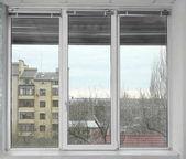 Fotografie Krásné městské výhled z okna