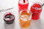 Photo Jars with sweet jams