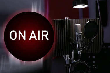 Microphone for live radio broadcast