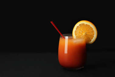 Glass of Sex on the Beach cocktail
