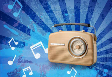 Radio broadcasting music
