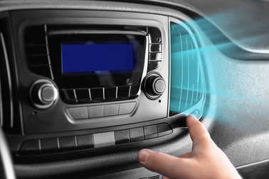 Driver turning on air conditioner