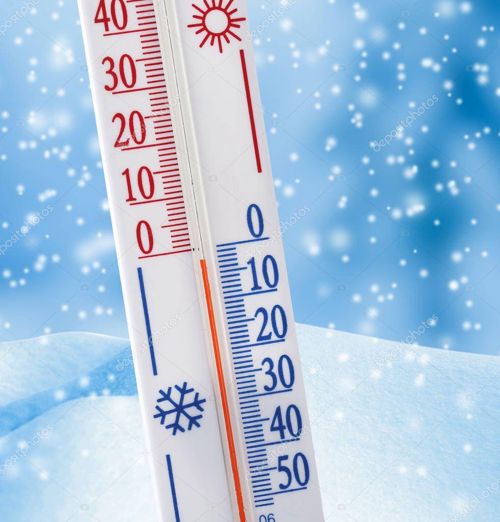 Thermometer registering temperature