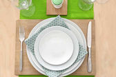 Photo Beautiful festive Easter table setting