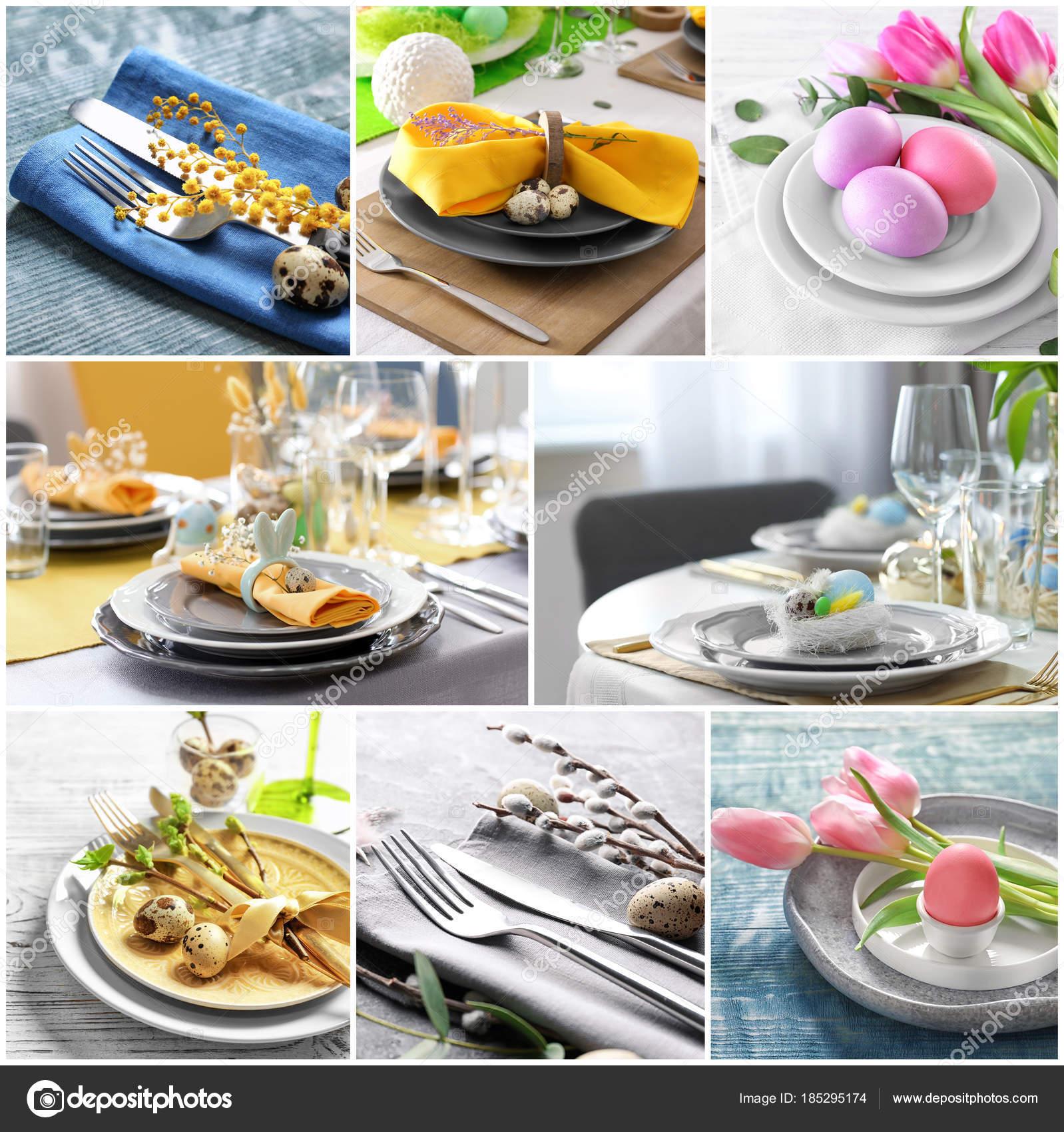 Faszinierend Collage Ideen Sammlung Von Mit Unterschiedlichen Für Festliche Tischdekoration Für Ostern