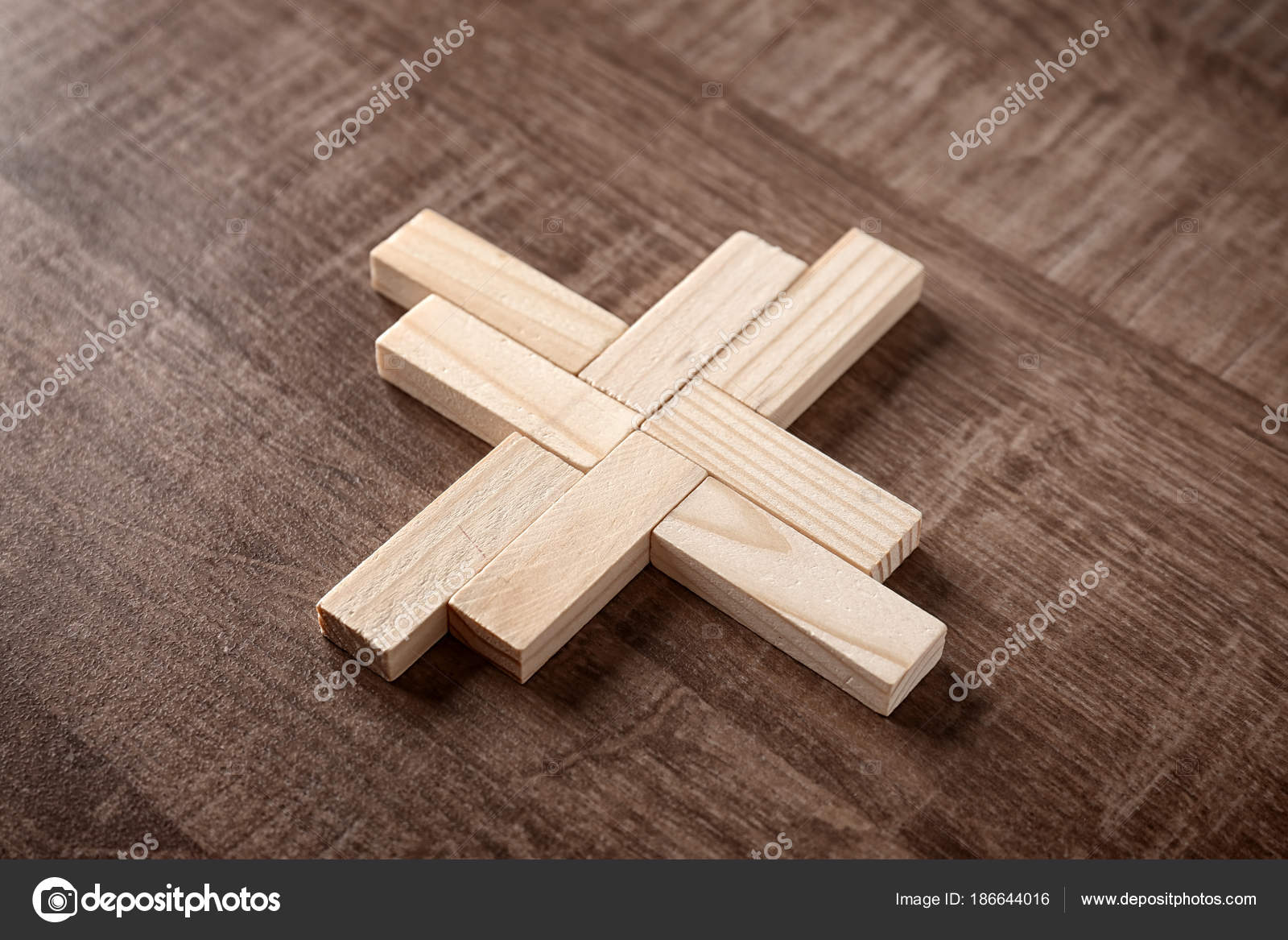 Wooden Blocks On Table Unity Concept Stock Photo Belchonock