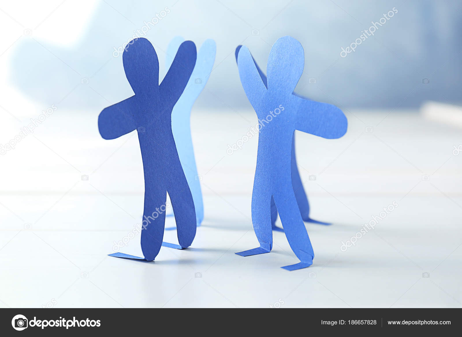 Paper people on light background  Unity concept — Stock