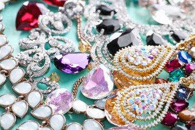 Beautiful jewellery with precious stones