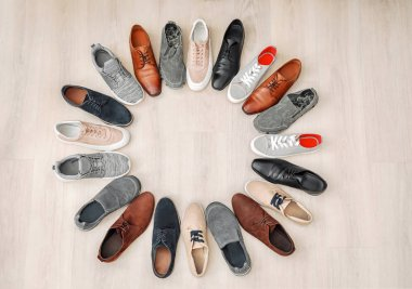 Different male shoes
