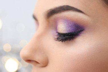 Woman with beautiful makeup, closeup