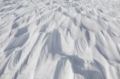 Fotografia Pulito splendente neve in inverno