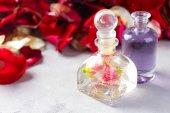 Fotografie Bottles with perfume oil