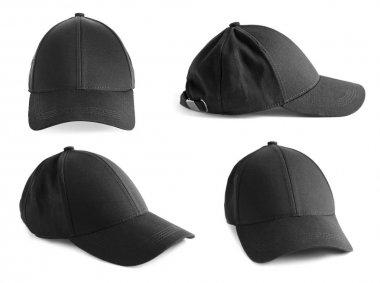 Set of black caps