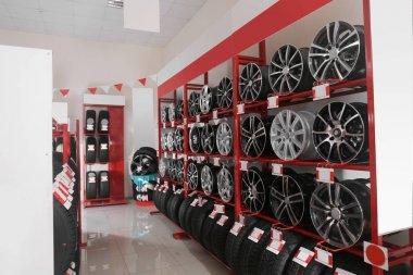 Modern tire store interior