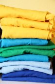 Fotografie colorful t-shirts prepared for printing