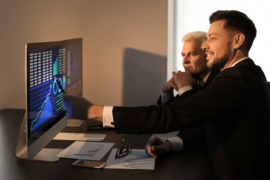 brokers working in office
