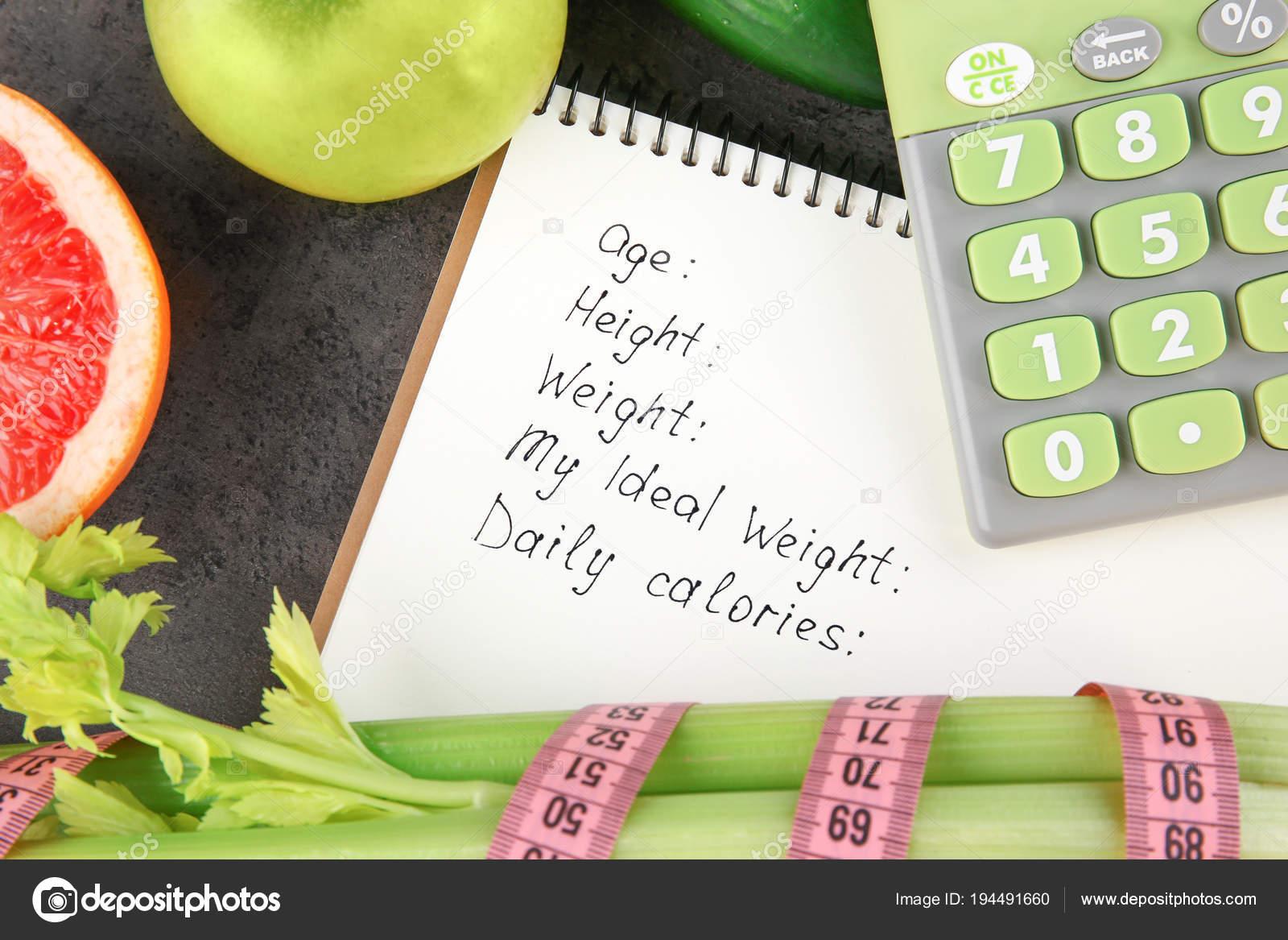 notebook calculator and groceries stock photo belchonock 194491660