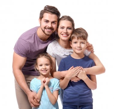 Portrait of couple with children
