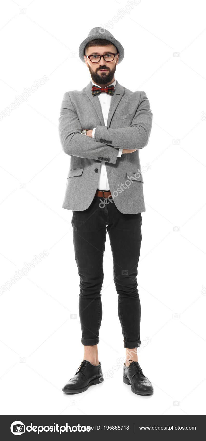 Vestiti Eleganti Hipster.Handsome Hipster In Stylish Outfit Stock Photo C Belchonock