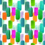 abstrakte geometrische nahtlose Muster mit bunten Klecksen. Vintage-Stil Aquarell Hintergrund auf weiß. für Papier, Textilien, Dekoration und Verpackung.