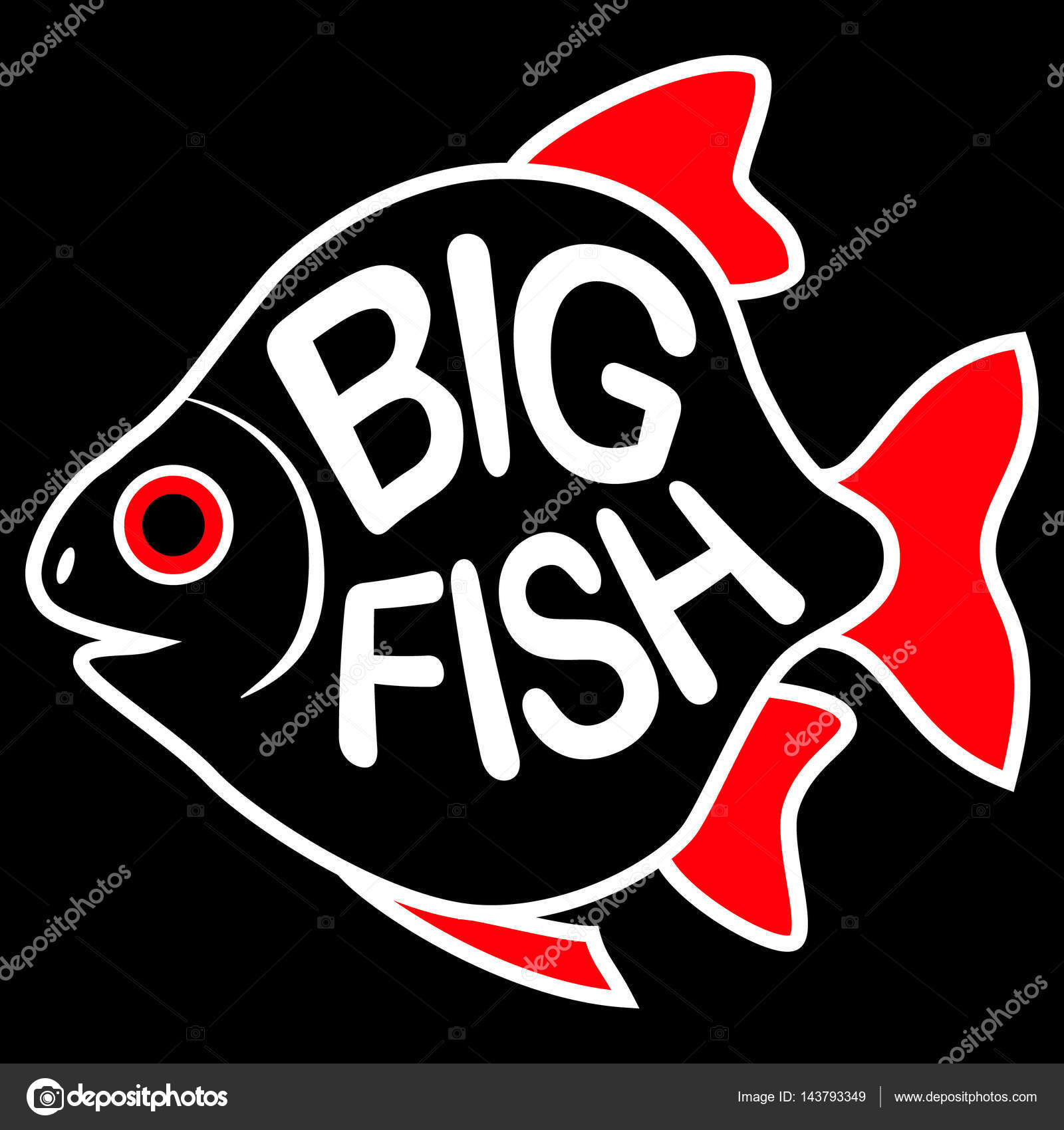Big Fish Background Stock Vector Alekseynikolayewail