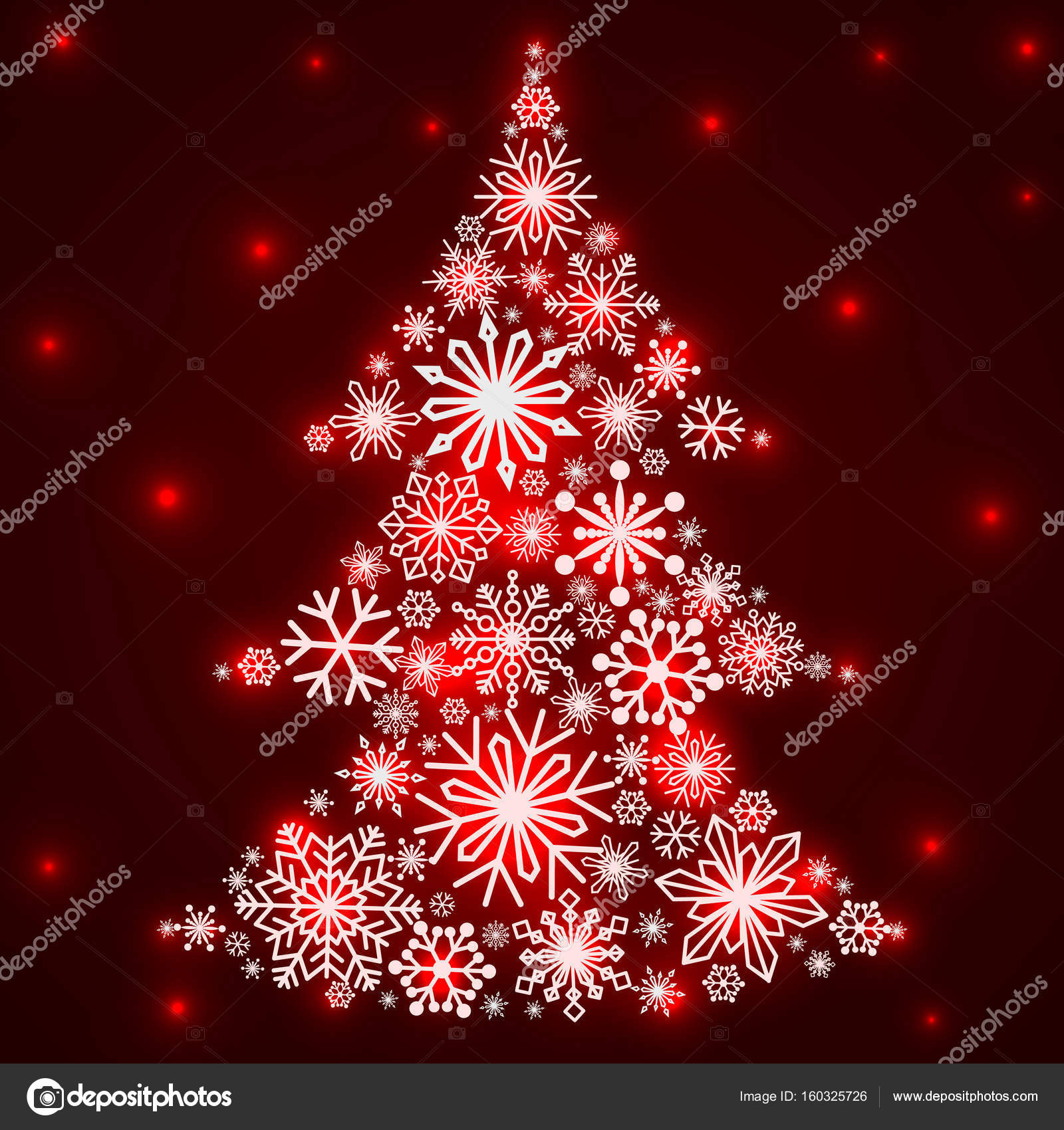 snowflakes in the form of a christmas tree winter themes snowflakes of different sizes and shapes new year and christmas vector illustration