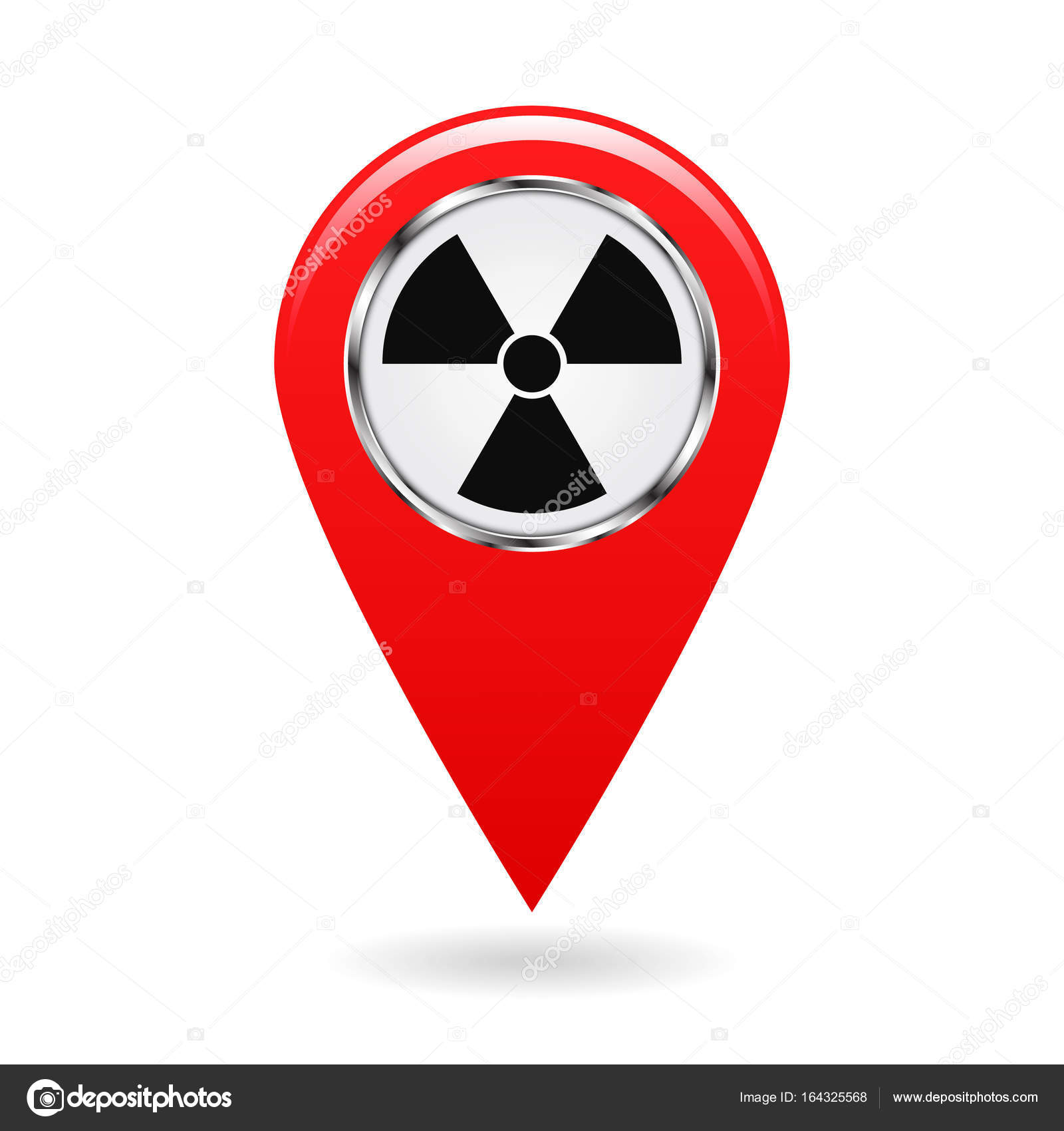 Map Pointer Pointer Radiation Hazards And Contamination Places On